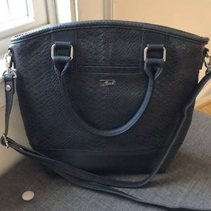 Thirty One Jewell Paris Gray Crossbody Satchel